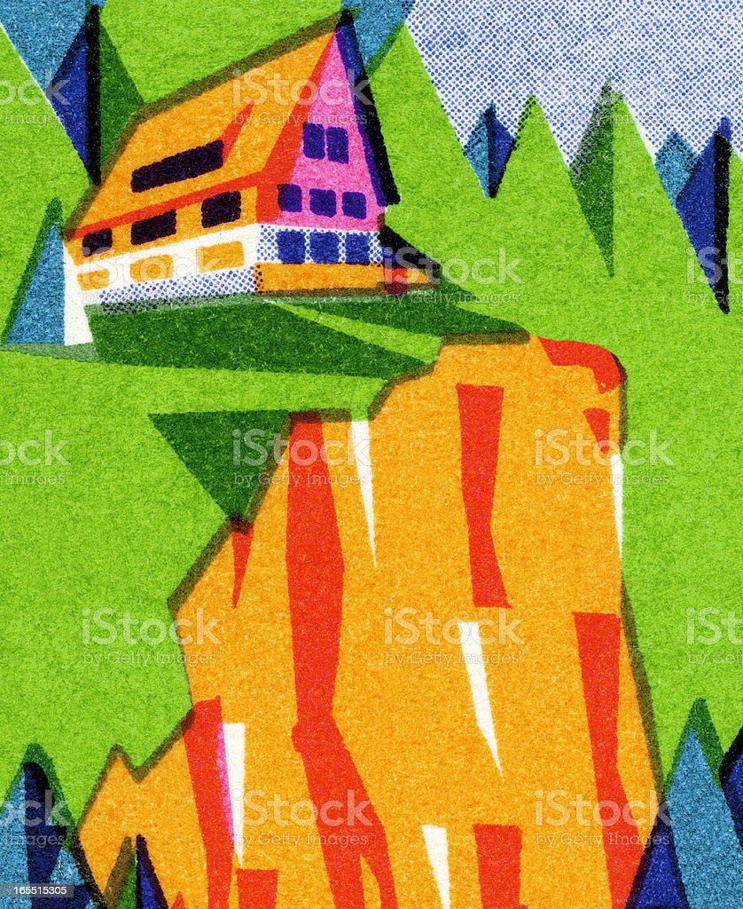 House on Top of a Cliff royalty-free house on top of a cliff stock vector art & more images of cliff