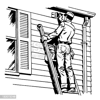 House Painter Stock Vector Art & More Images of Adult - iStock