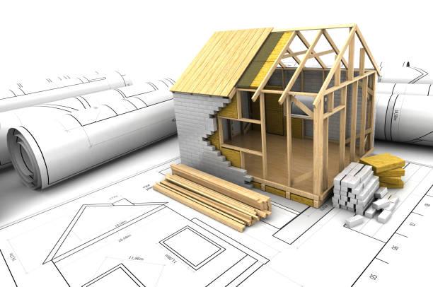 house project vector art illustration