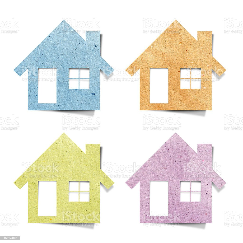 house recycled paper royalty-free stock vector art