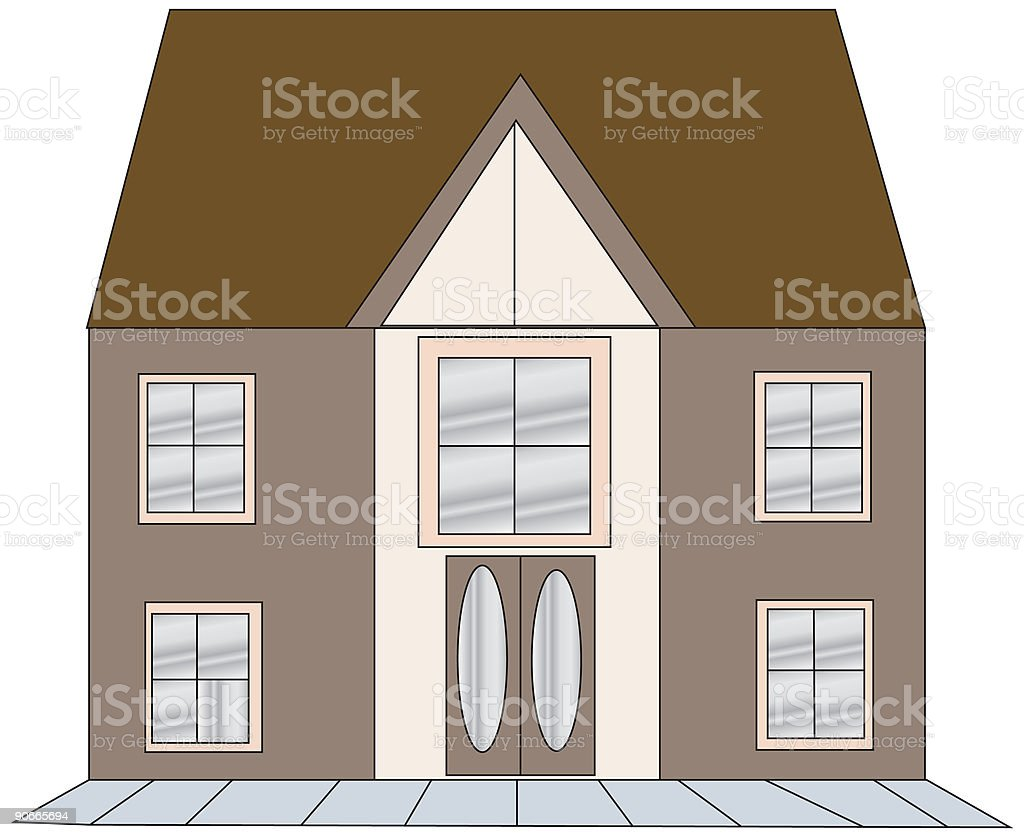 House - Vector royalty-free stock vector art