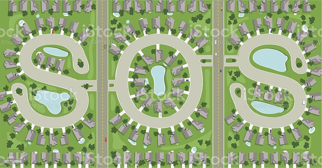 Housing Krise Lizenzfreies housing krise stock vektor art und mehr bilder von architektur