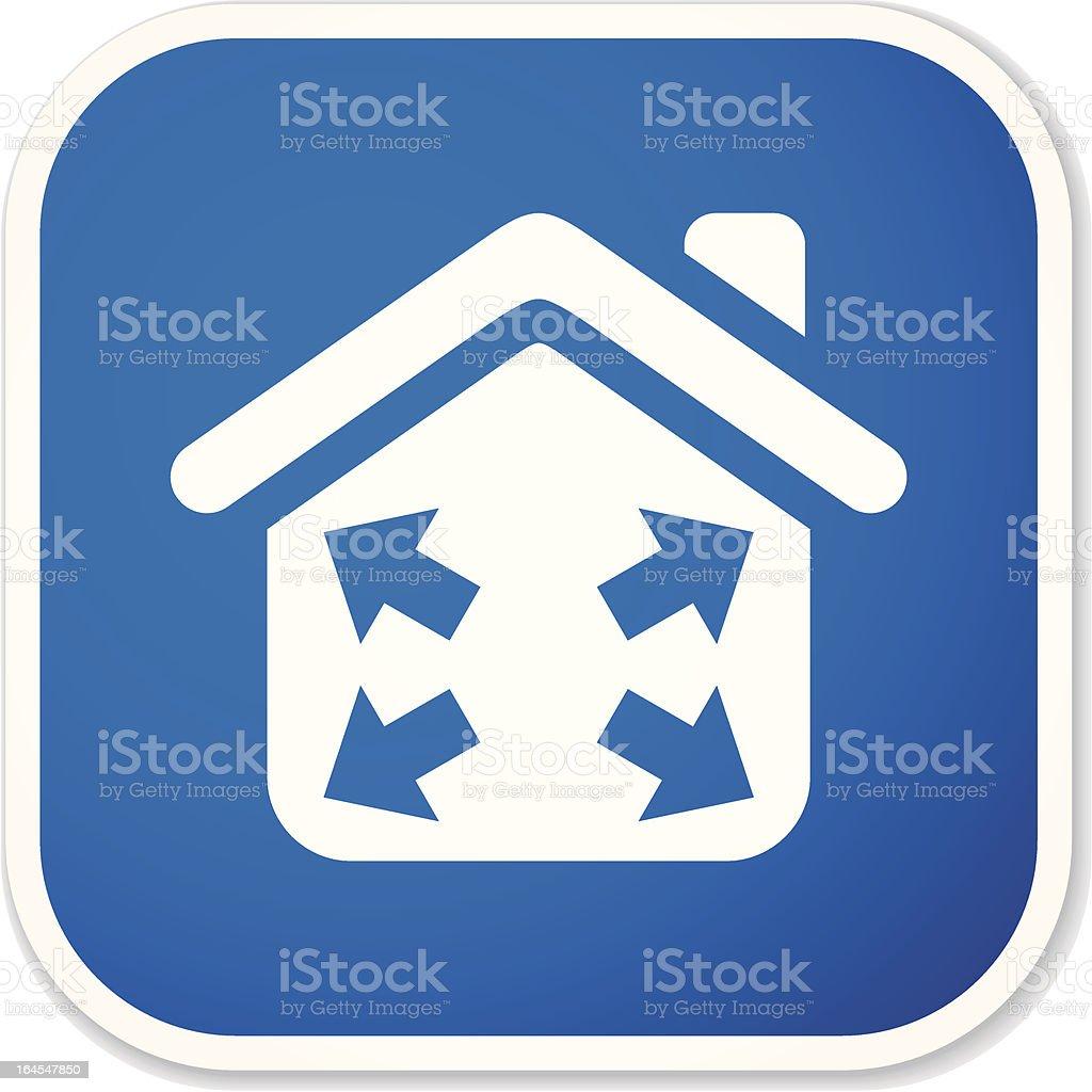 housing development sq sticker royalty-free stock vector art