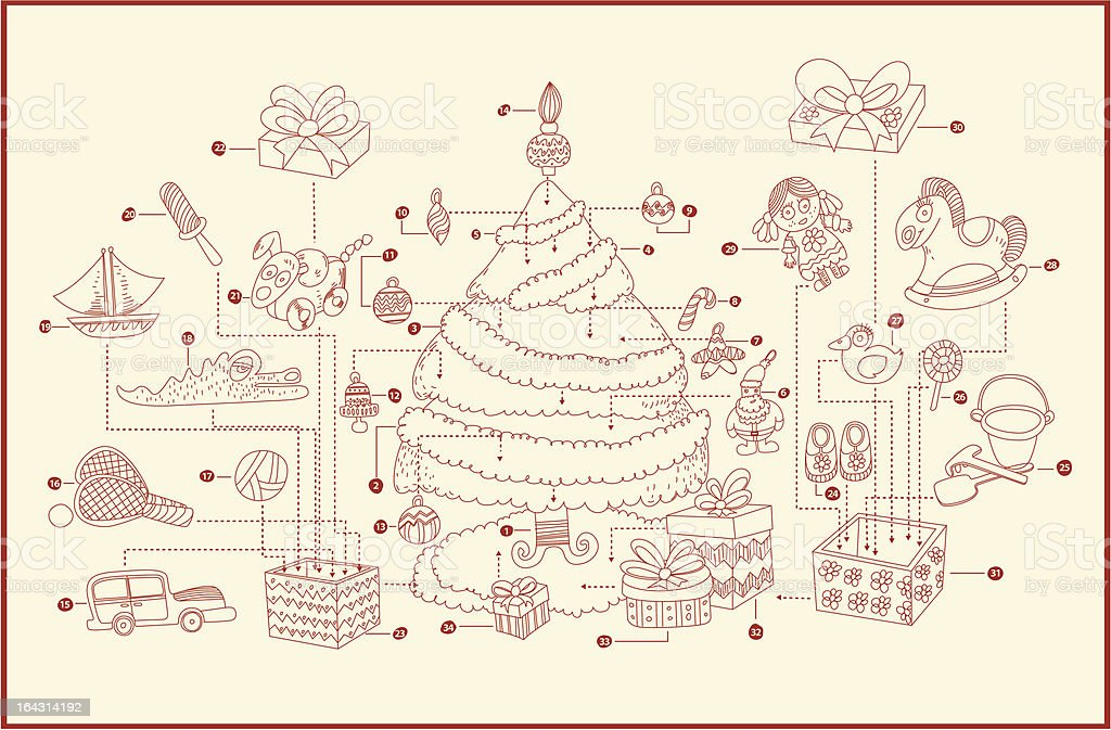 how to decorate the perfect christmas tree- instruction royalty-free how to decorate the perfect christmas tree instruction stock vector art & more images of advice