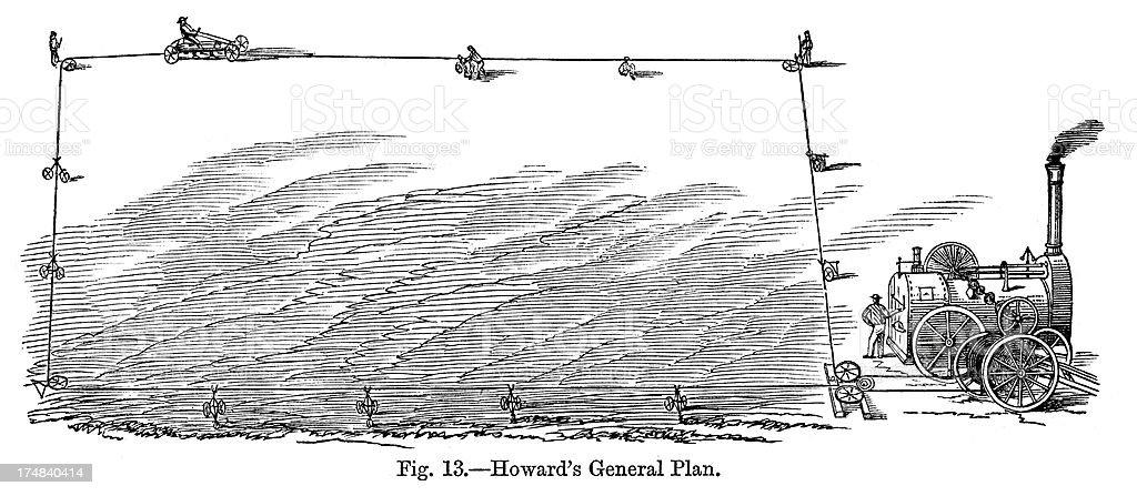 Howard's Plough royalty-free stock vector art