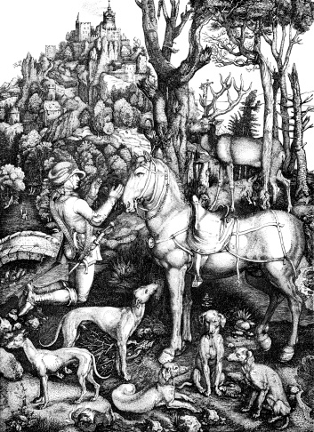 Hubert, Patron Saint of Hunters, by Albrecht Durer