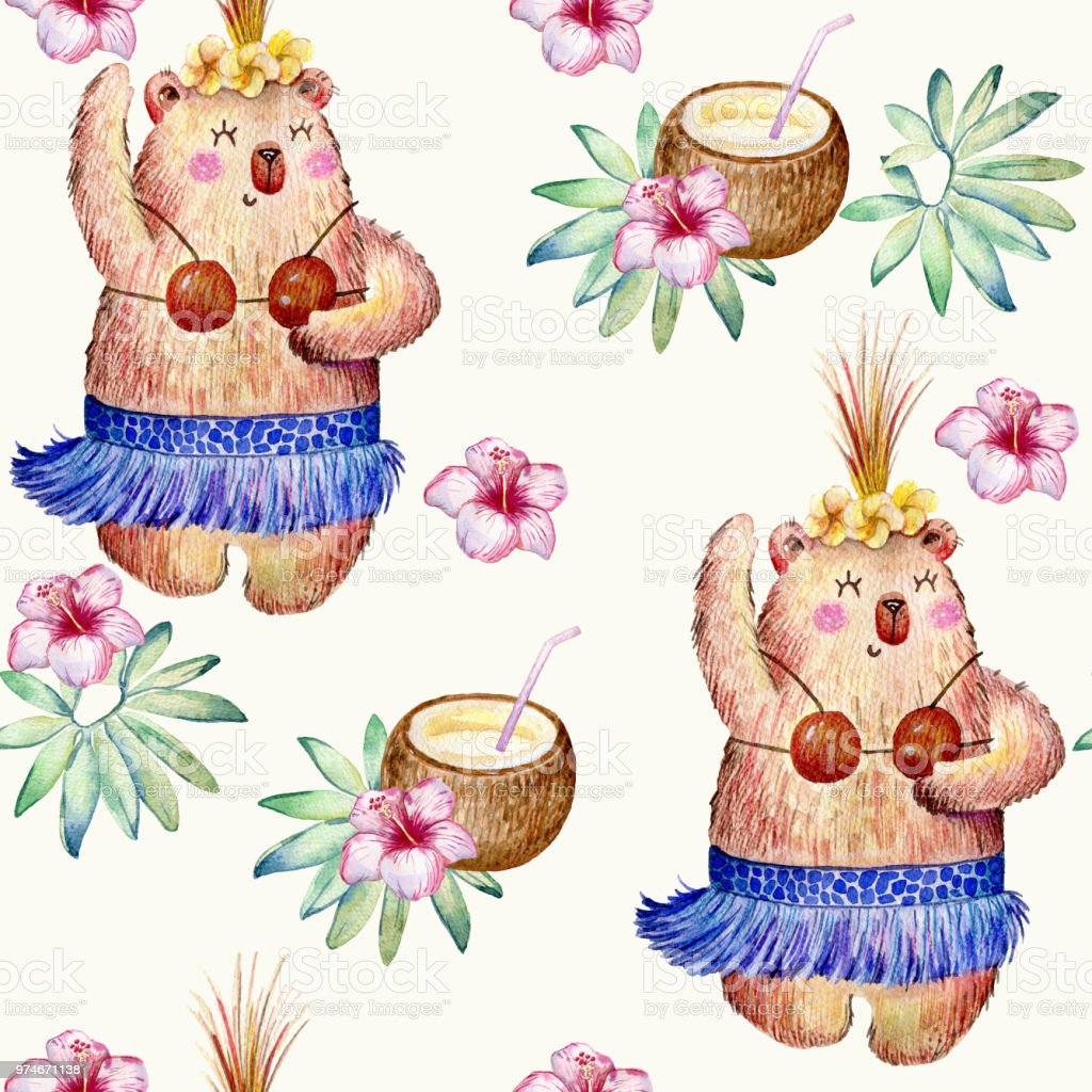 Hula Hawaii dance vector art illustration