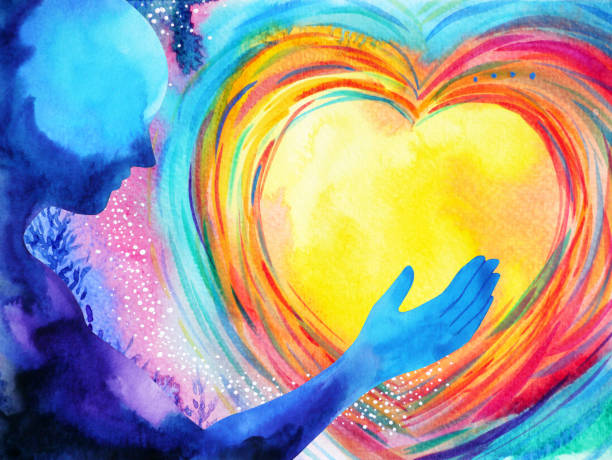 human and love spirit powerful energy connect to the universe power abstract art watercolor painting illustration design hand drawn human and love spirit powerful energy connect to the universe power abstract art watercolor painting illustration design hand drawn love emotion stock illustrations