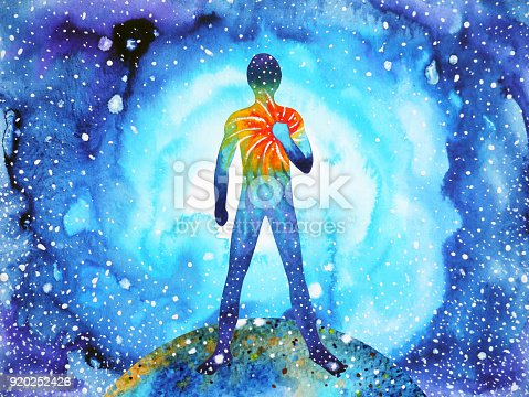 istock human and spirit powerful energy connect to the universe power abstract art watercolor painting illustration design hand drawn 920252426