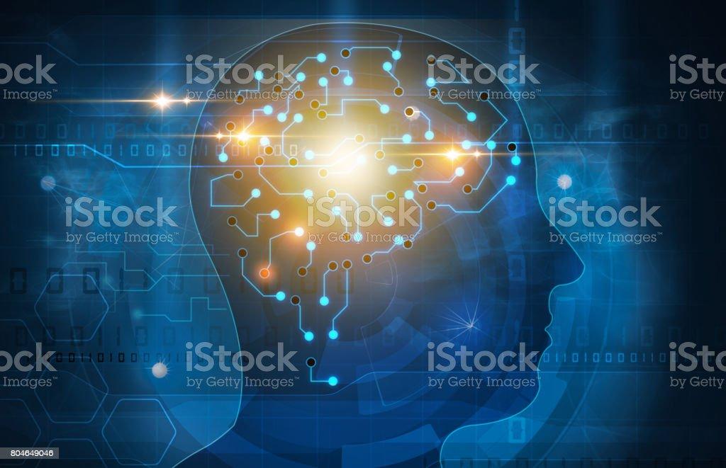 human brain head illustration vector art illustration