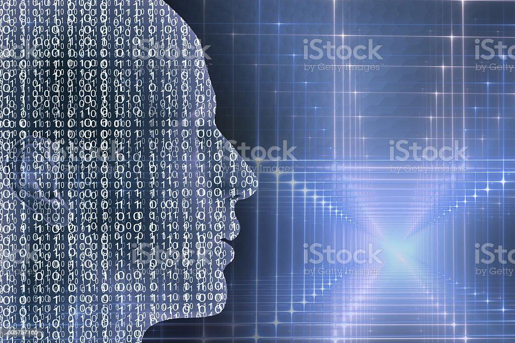 digital humanos - ilustración de arte vectorial