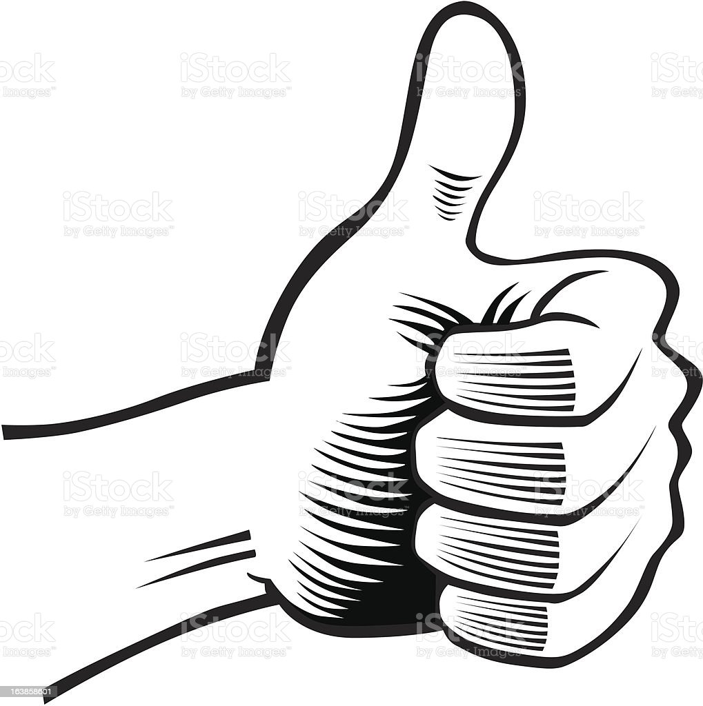 human hand with thumb up royalty-free stock vector art
