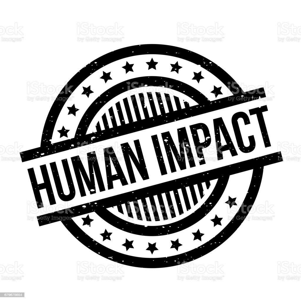 Human Impact rubber stamp vector art illustration
