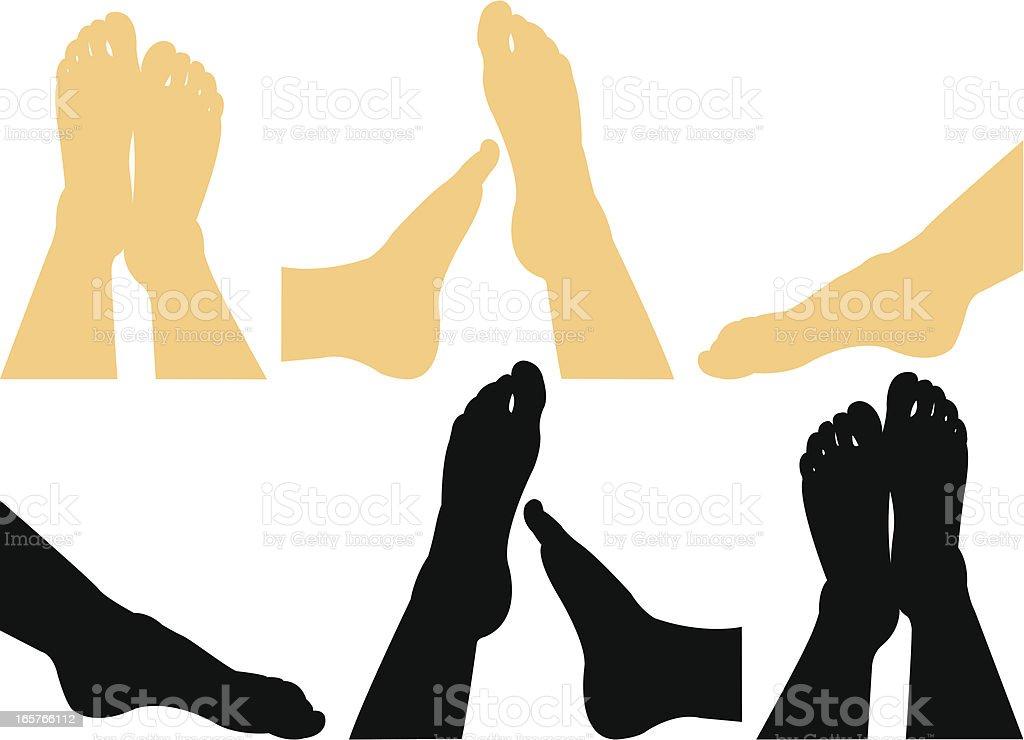 Human legs vector art illustration