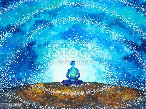 istock human meditate mind mental health yoga chakra spiritual healing watercolor painting illustration design 1224119533