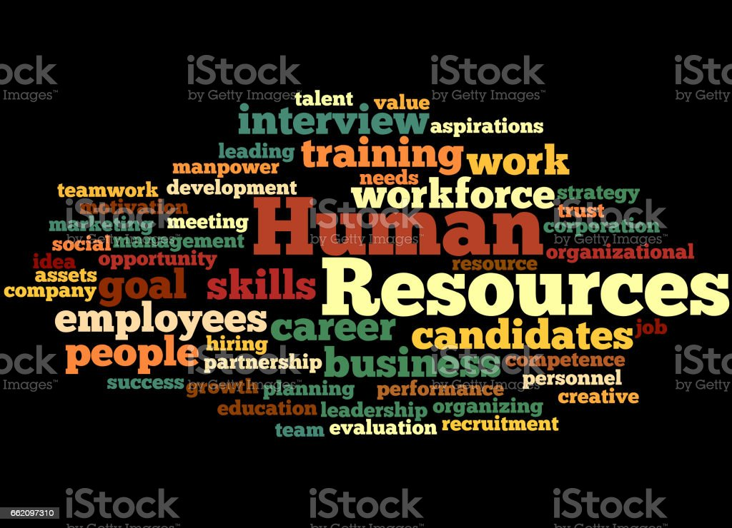 Human Resources, word cloud concept 5 royalty-free human resources word cloud concept 5 stock vector art & more images of business