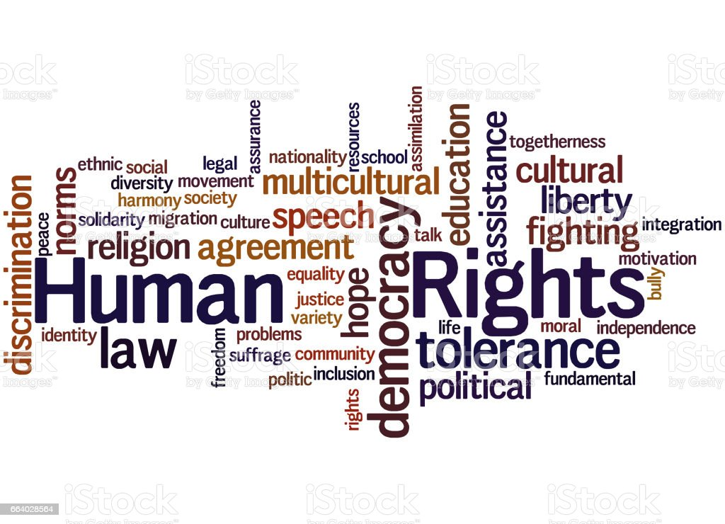 Human Rights Word Cloud Concept 8 Stock Vector Art More Images Of