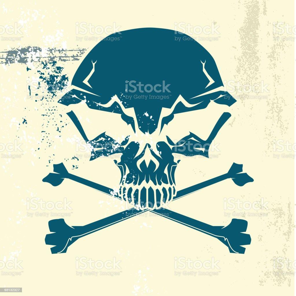 human skull and bones symbol. royalty-free stock vector art