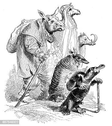 Humanized animals illustrations: Group
