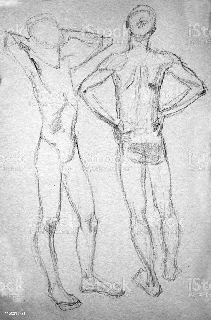 Dibujo Figura Ilustración Humana Lápiz Boceto De A Y GSUzMVqpL