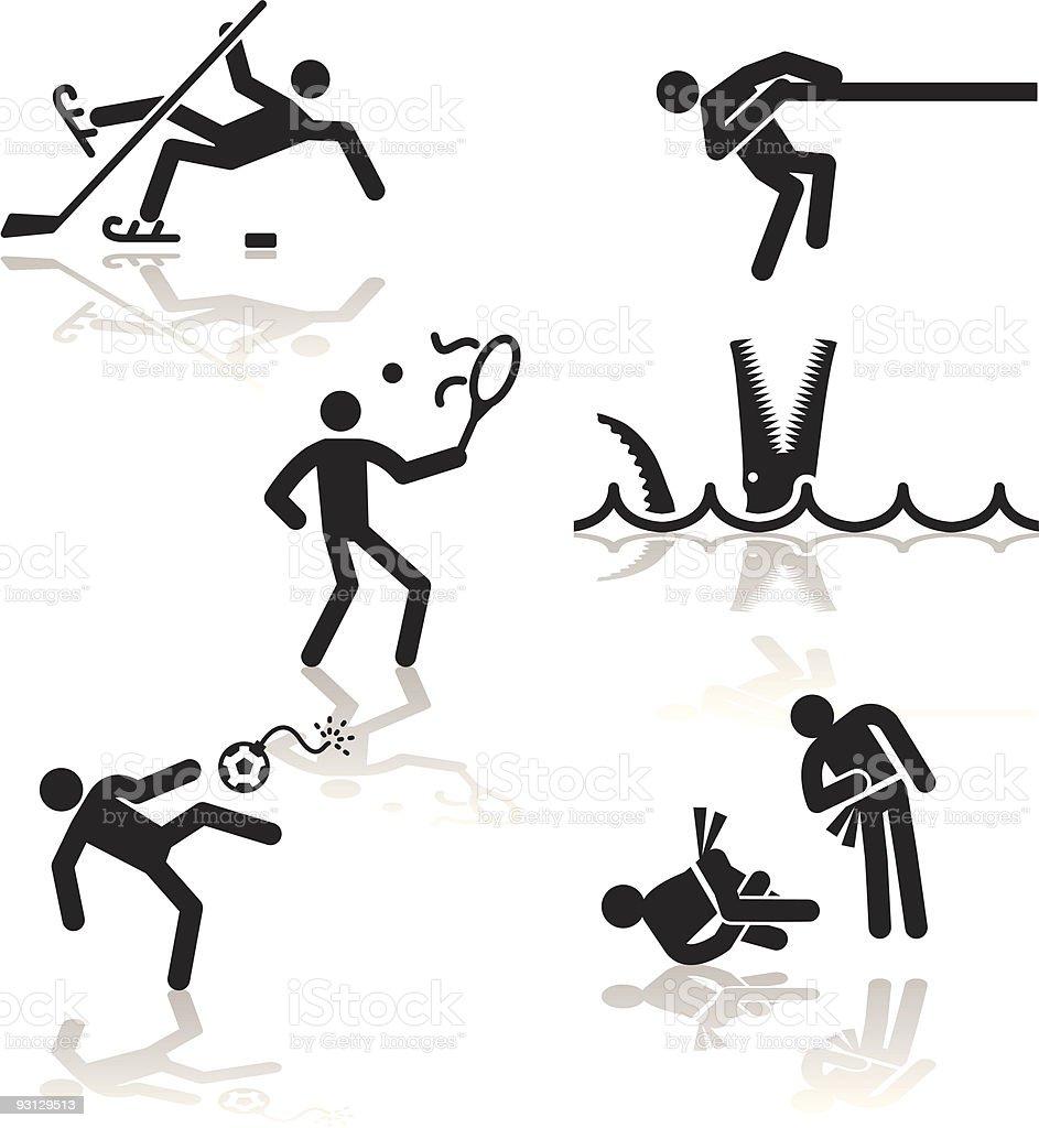 Humor olympic games - 3 royalty-free stock vector art