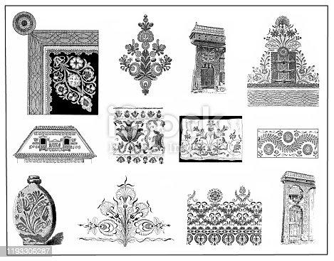 istock Hungarian culture decorations 1193305287