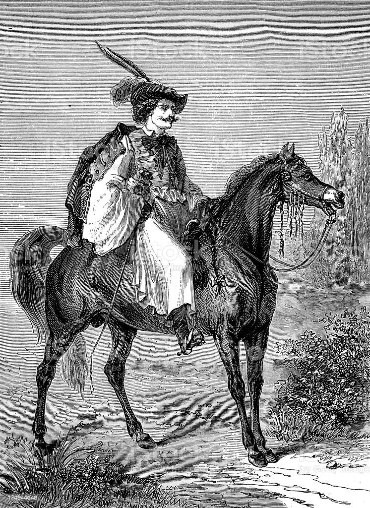 Hungarian gentleman on horse royalty-free hungarian gentleman on horse stock vector art & more images of 19th century style