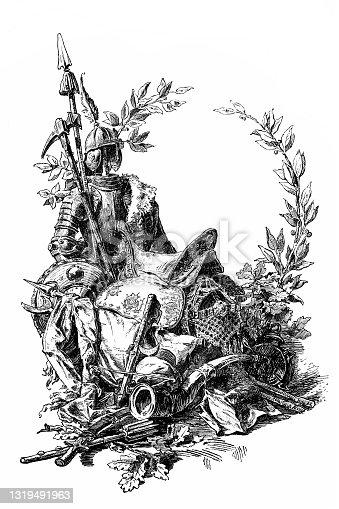 Hungarian warriors antiquities