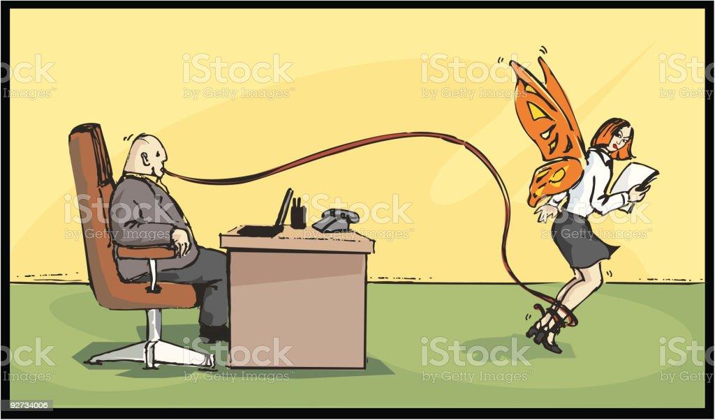 hungry boss vector art illustration