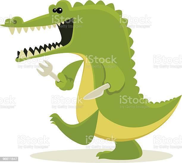 Hungry Crocodile-vektorgrafik och fler bilder på Alligator