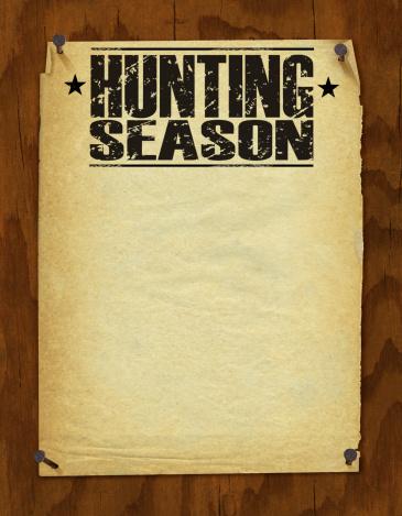 Hunting Season Poster - Retro Background