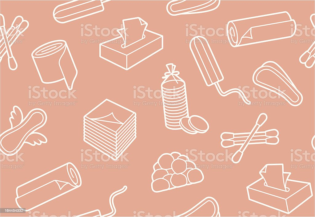 Hygiene means background vector art illustration