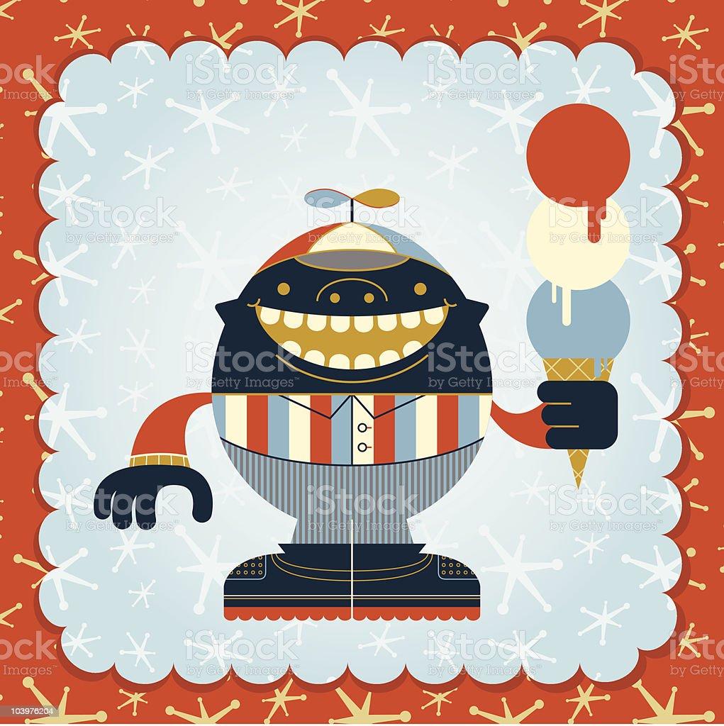 Ice Cream Boy vector art illustration