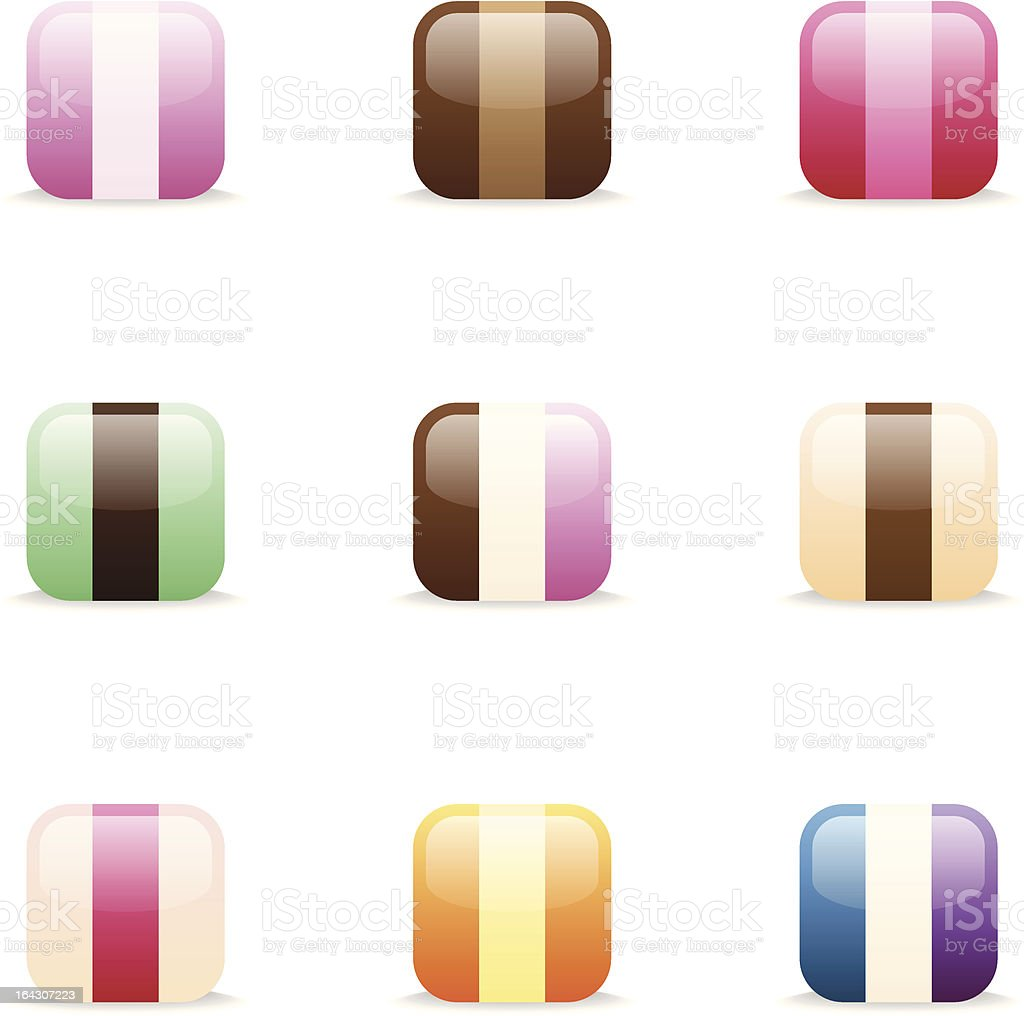 Ice cream icons royalty-free stock vector art