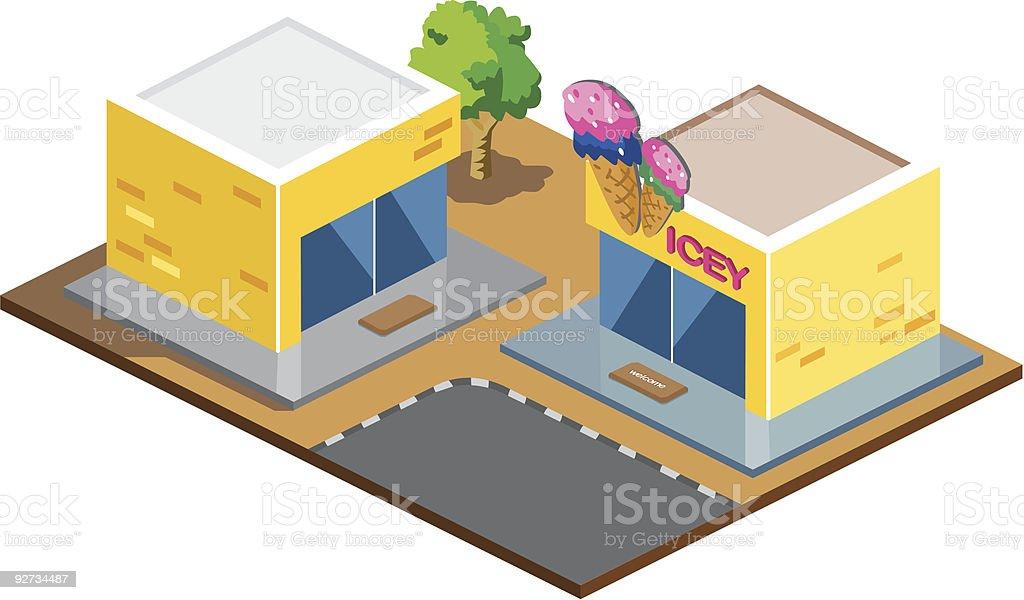 Ice Cream Shop Lizenzfreies ice cream shop stock vektor art und mehr bilder von architektur