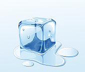 istock Ice cube and water 164398836