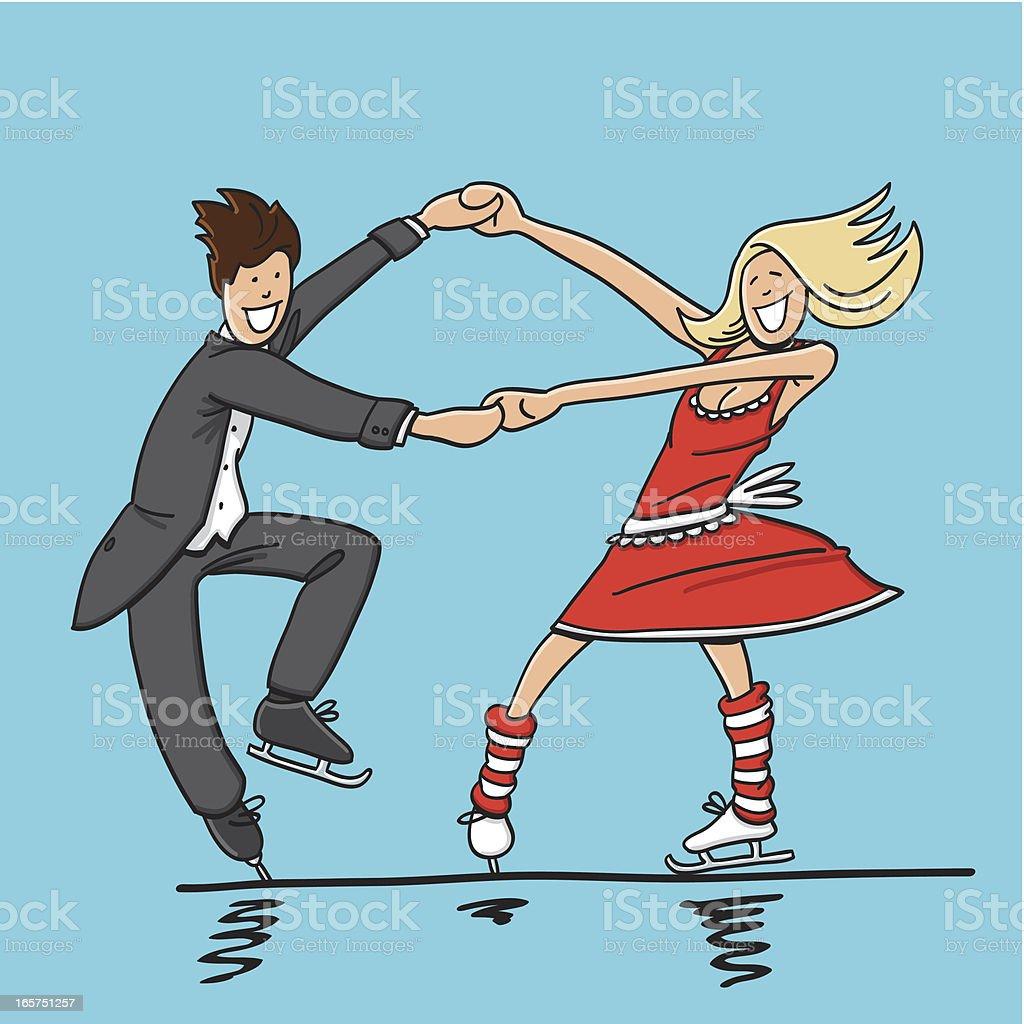 ice ダンスカップルペアスケーティング - 2人のベクターアート素材や画像