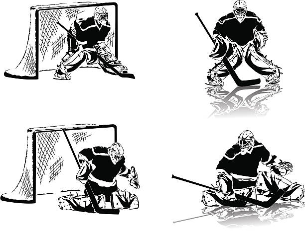 Top 60 Hockey Goalie Clip Art Vector Graphics And Illustrations