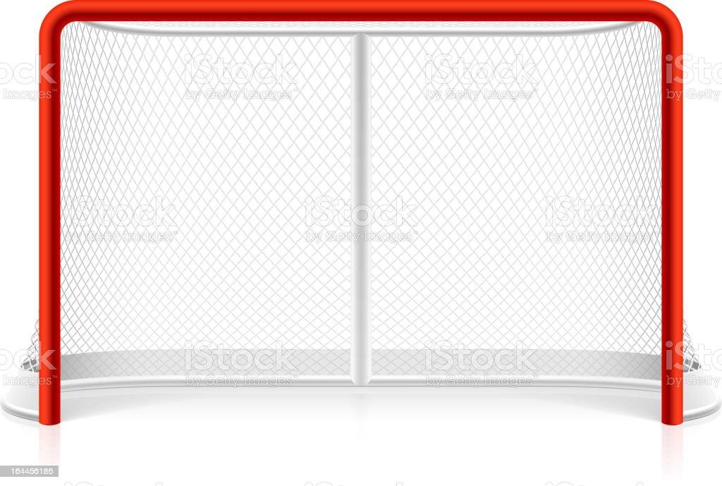 Ice hockey net vector art illustration