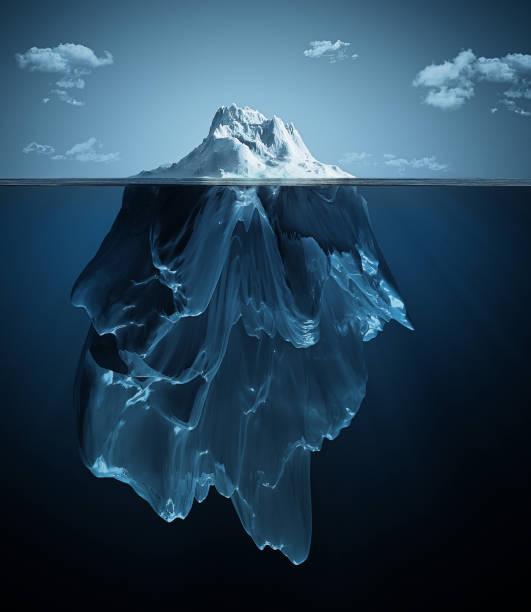 ilustrações de stock, clip art, desenhos animados e ícones de iceberg over and under the water - iceberg