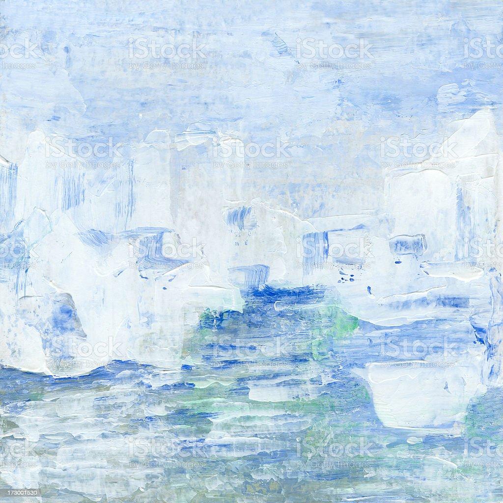 Icebergs vector art illustration