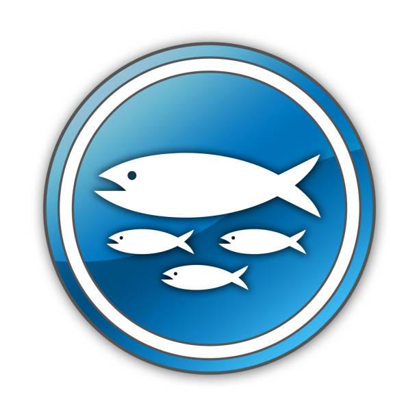 ilustrações de stock, clip art, desenhos animados e ícones de icon, button, pictogram fish hatchery - aquacultura