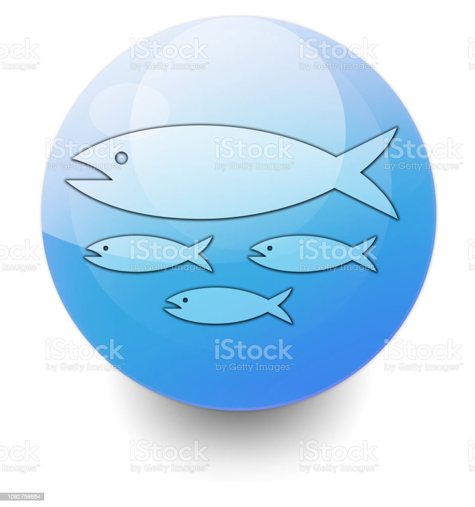 Icon Button Pictogram Fish Hatchery Stock Illustration
