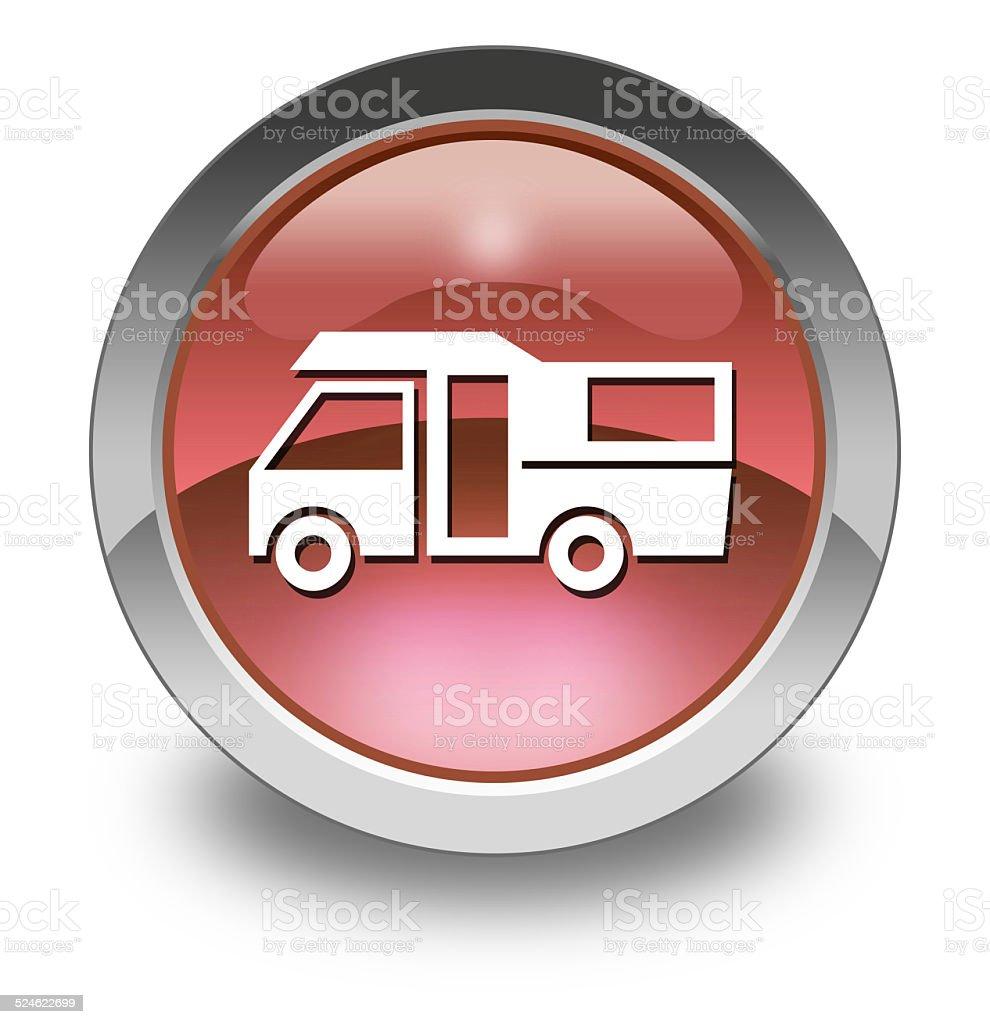Icon, Button, Pictogram Motorhome vector art illustration