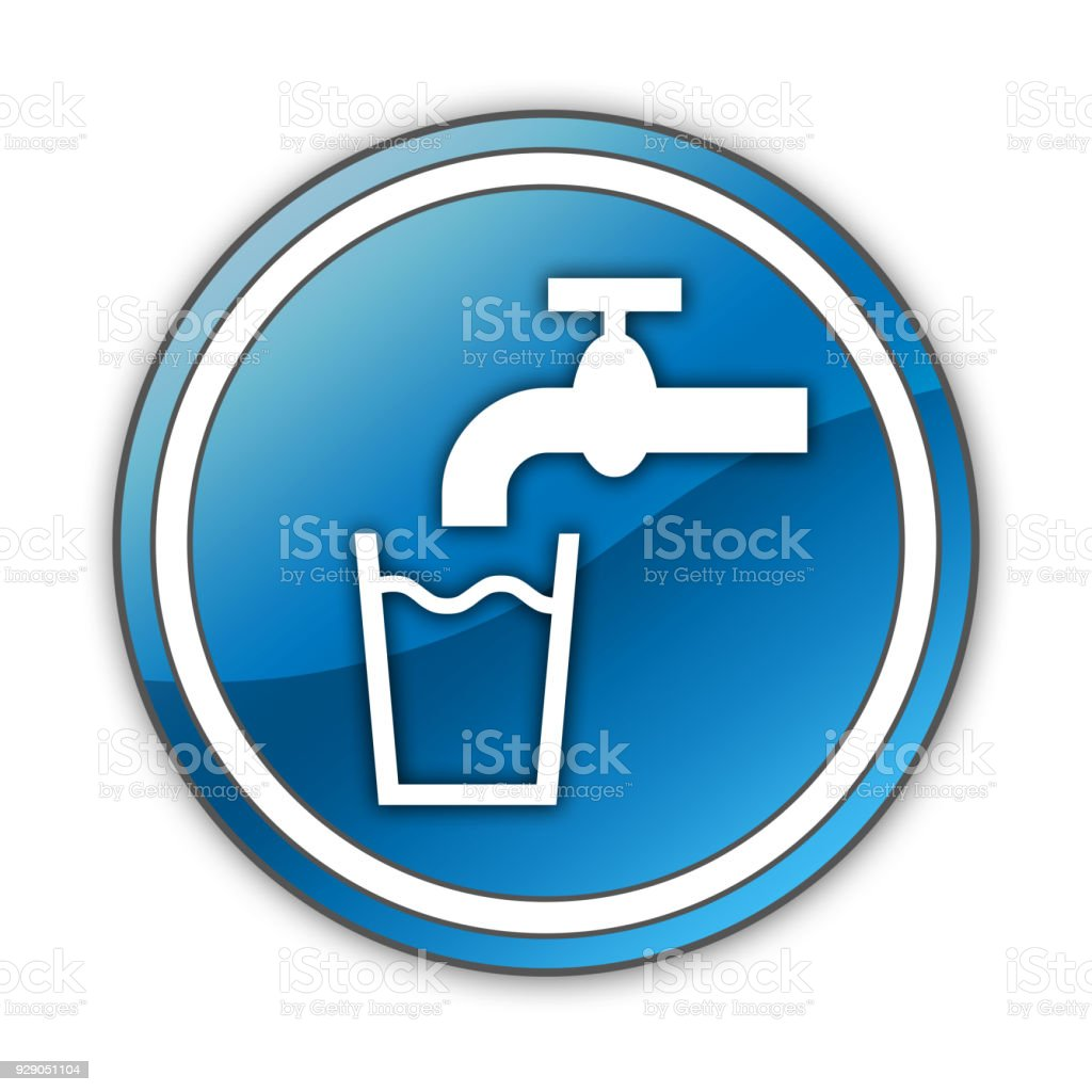 Icon Button Pictogram Running Water Stock Vector Art More Images