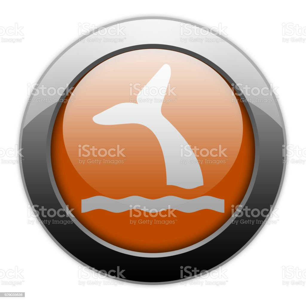 Icon, Button, Pictogram Whale vector art illustration
