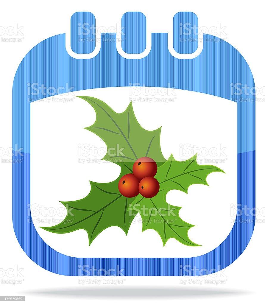 Icono de calendario navideño ilustración de icono de calendario navideño y más banco de imágenes de abstracto libre de derechos