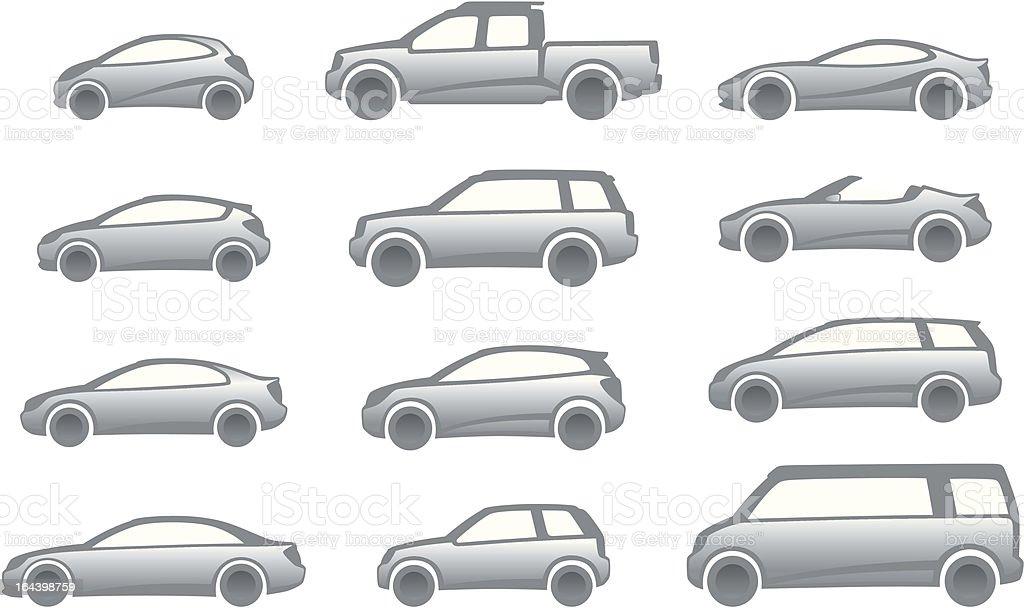 Icon cars royalty-free stock vector art