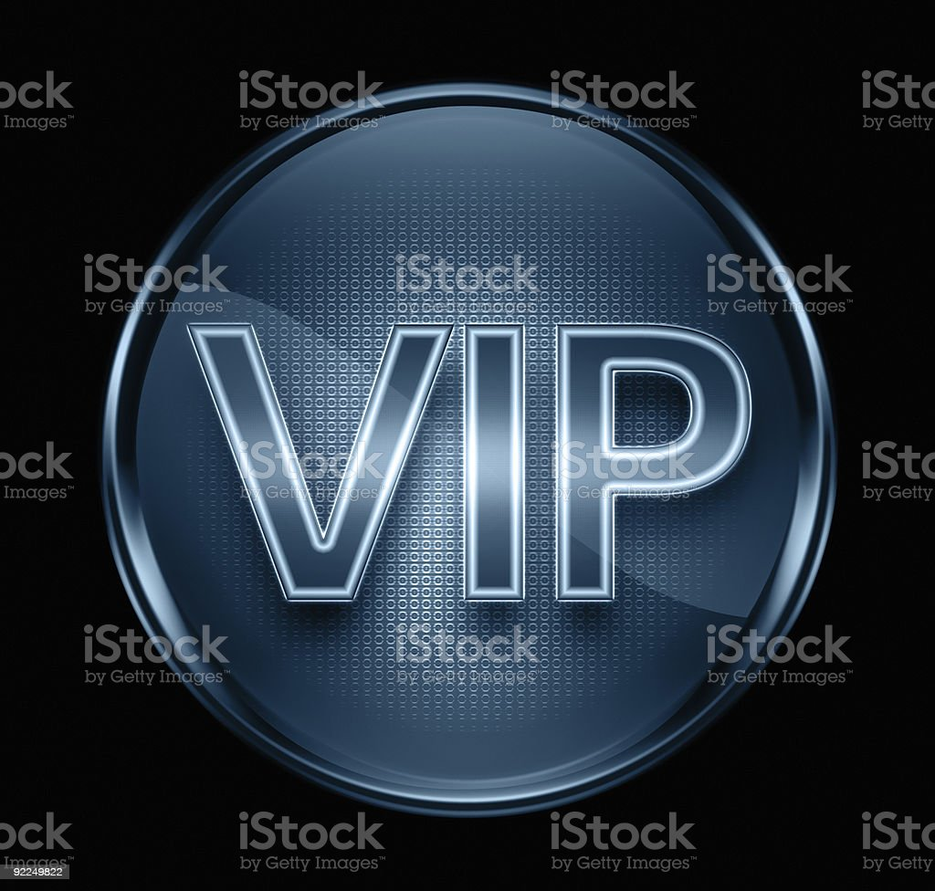 VIP icon dark blue, isolated on black background. royalty-free stock vector art