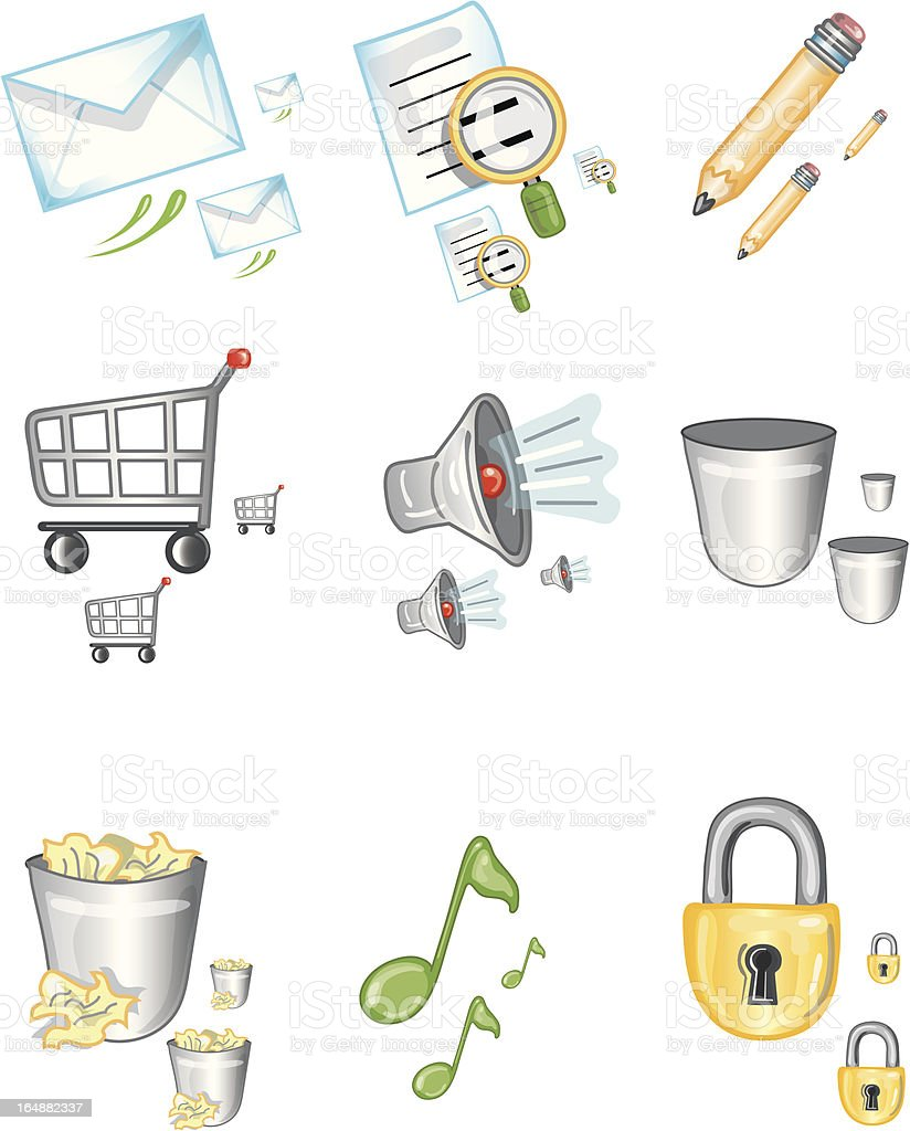 Icon Designs1 royalty-free stock vector art